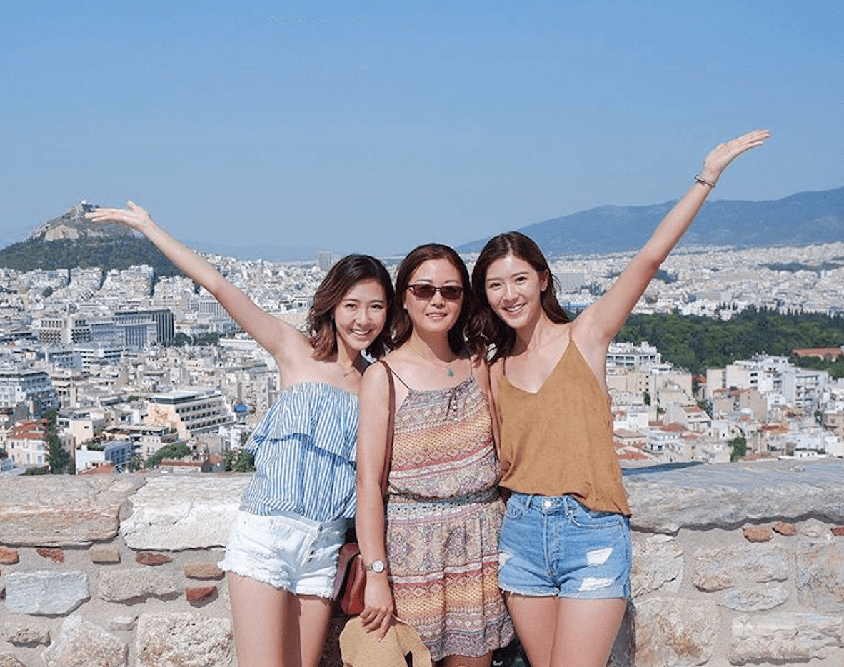 三母女去年同遊希臘
