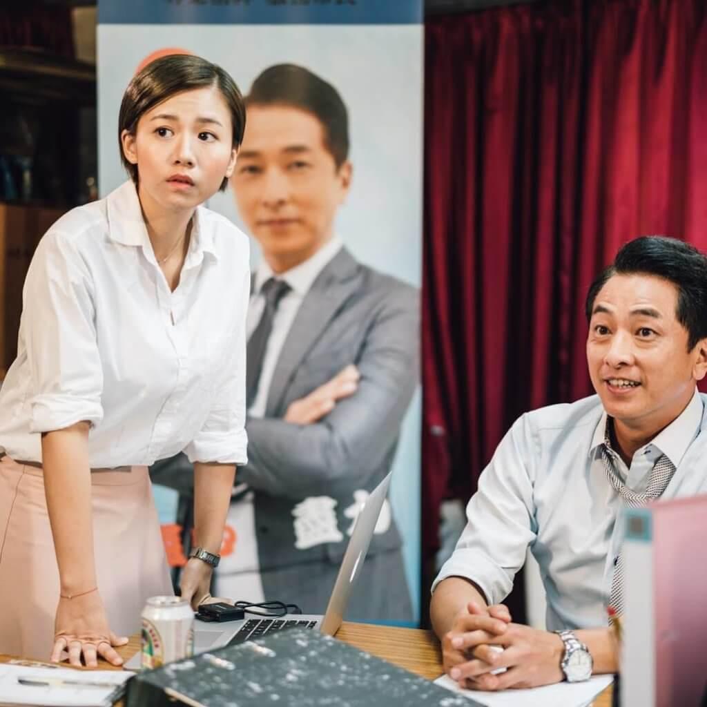 楊偲泳在劇集《身後事務所》跟好戲之人張松枝合作,令不少朋友羨慕。