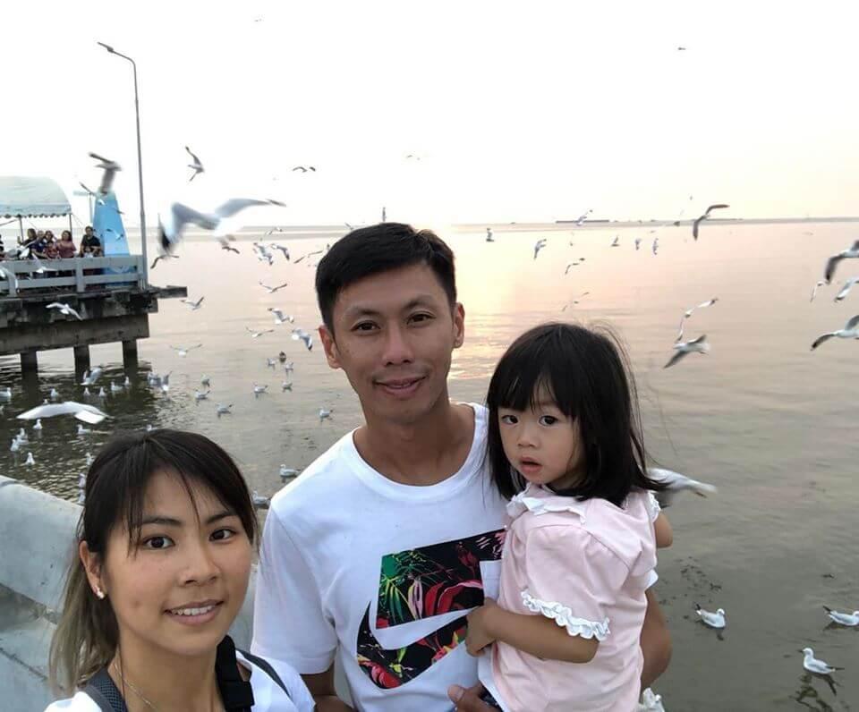 陳家豪和太太姚潔貞是香港著名的「長跑夫妻檔」,女兒有爸媽遺傳很好動。
