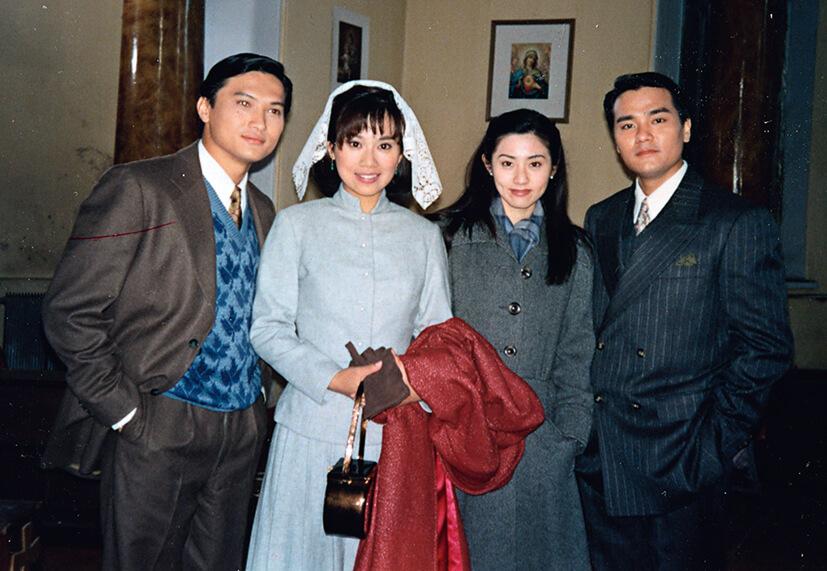 張玉珊在《新上海灘》飾演馮程程(陳松伶)的好友,演許文強和丁力的是陳錦鴻和林家棟。