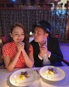 今日Rabeea與老公黃天翱到仙后餐廳慶祝