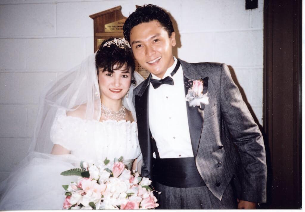 關禮傑九○年迎娶太太Anna,當年他們分別在香港和加拿大行禮。