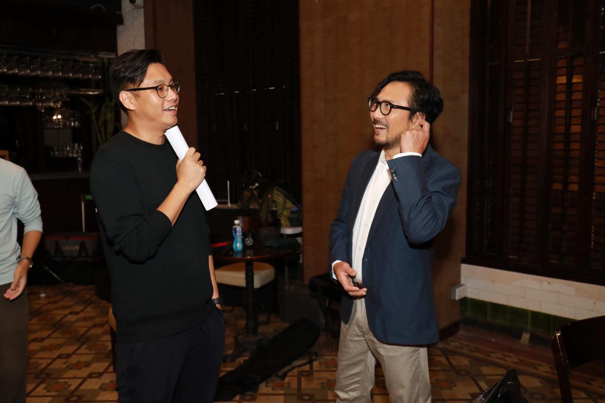 潘燦良說今次參與完全是因為這個組合,他和導演劉偉恒合力成功整喊Gigi。