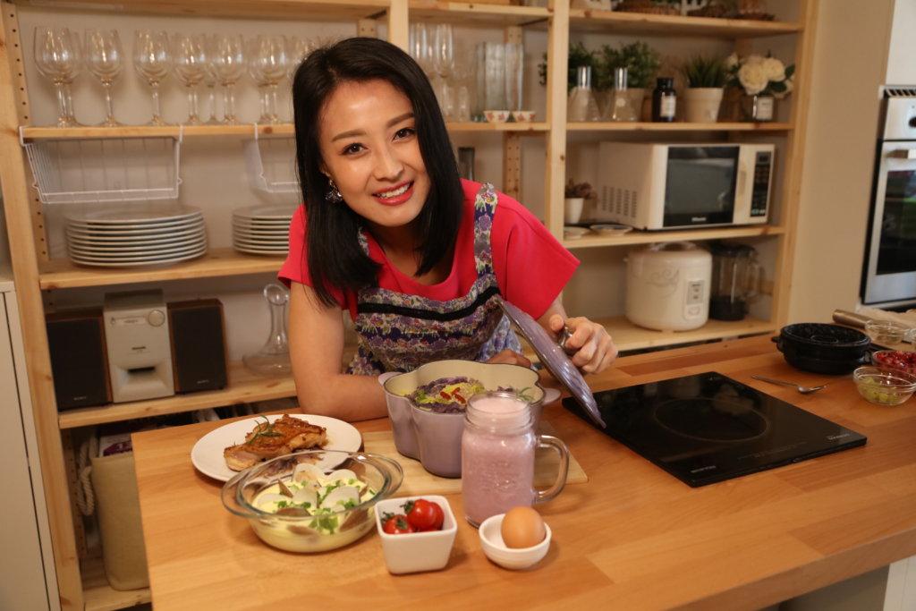 陳倩揚設計的吃得飽減肥餐單,簡單又豐富。