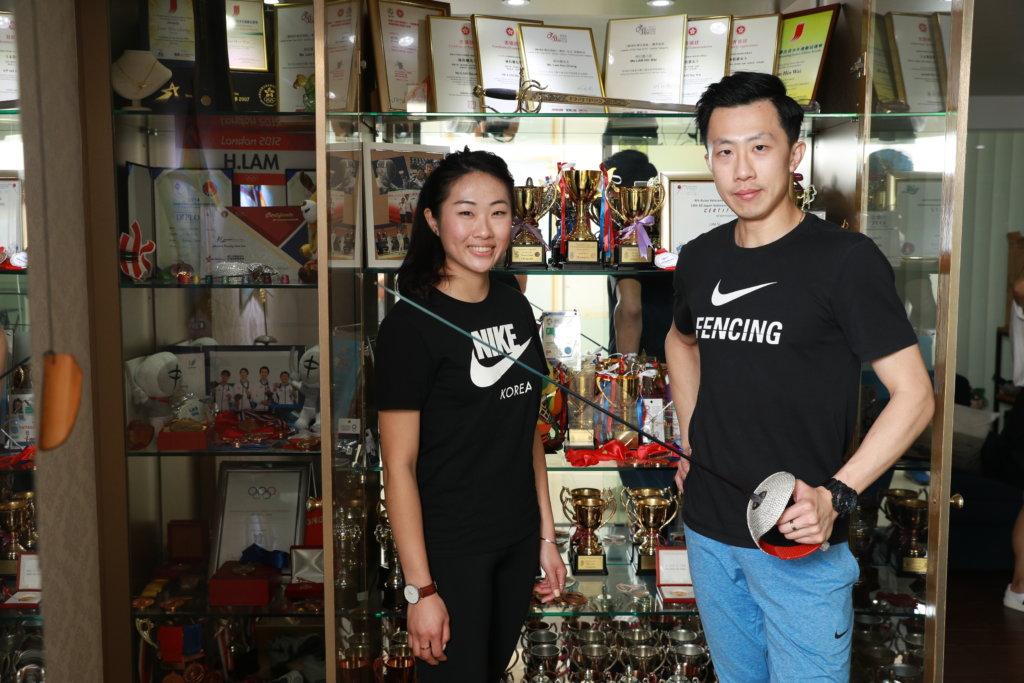 林衍聰和林衍蕙過去十年,是香港佩劍隊的主力,兩人都希望佩劍運動更普及。