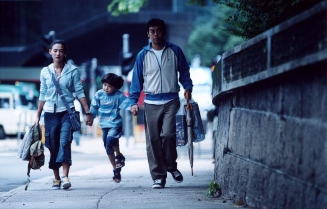 原島大地與張栢芝、劉青雲拍攝電影《忘不了》