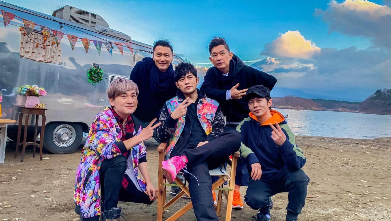 周董與謝霆鋒、杜國璋、陳冠霖、蔡威澤一起到東京取景。