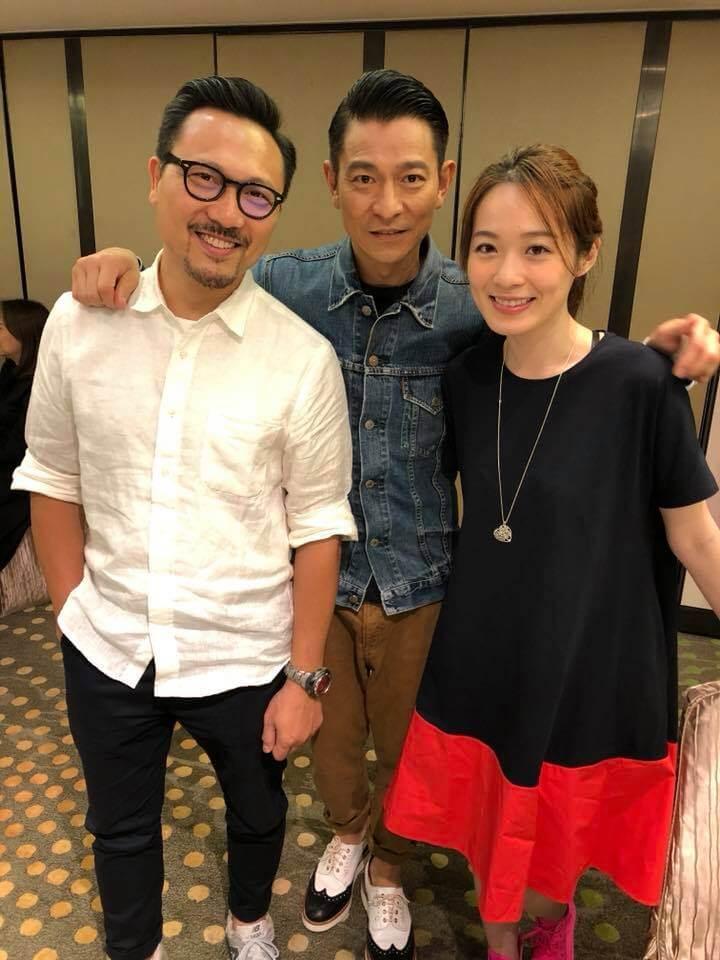 蔡潔與潘燦良在劉德華監製的《東方華爾街》合作