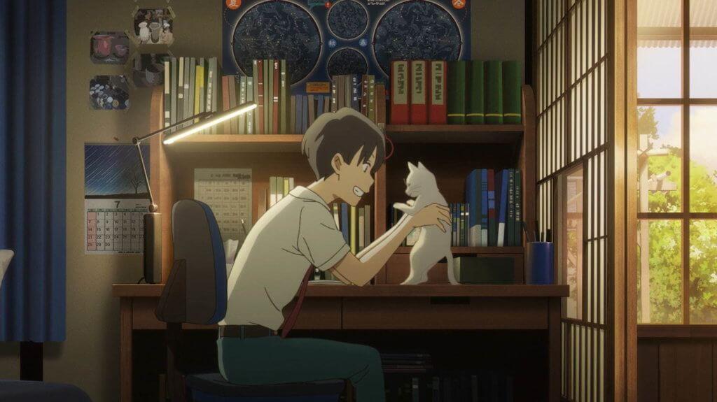 女主角憑貓身份,拉近了跟男主角的距離。