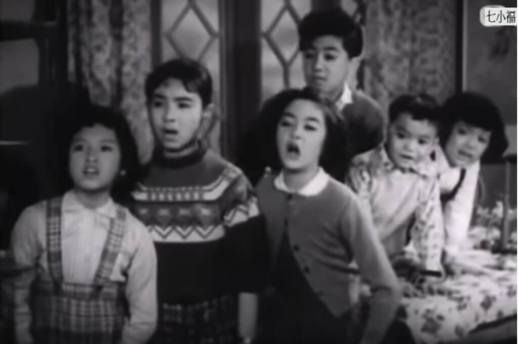 粵語片《七小福》有謝雪心、馮寶寶、王愛明和黎小田演等出。