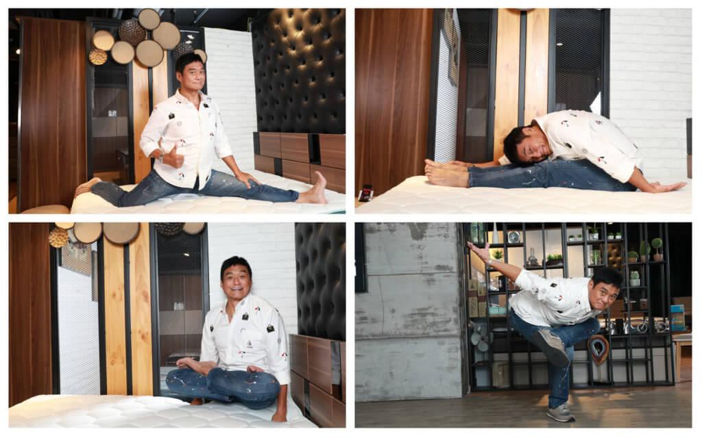 王俊棠身體柔軟,即席示範各種動作。