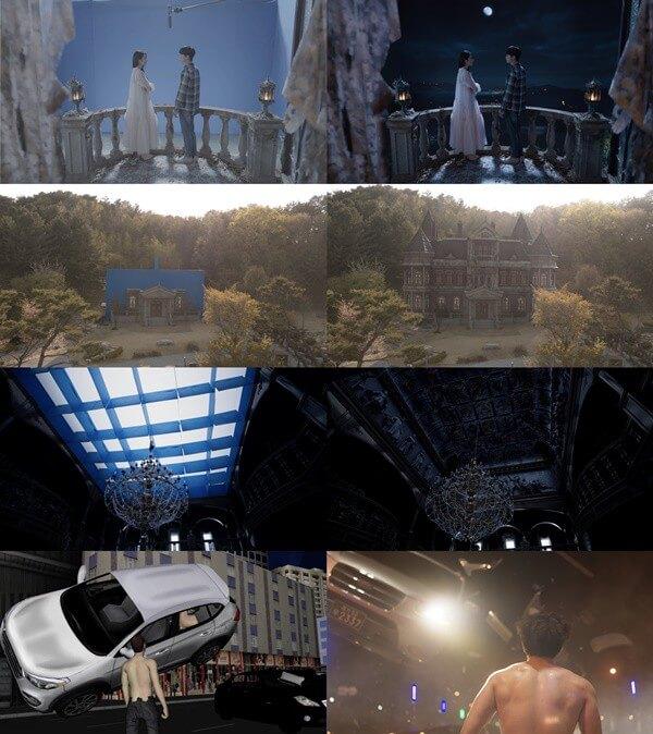 這幾個鏡頭的前後對比,經過CG後,優質的視覺呈現眼前。