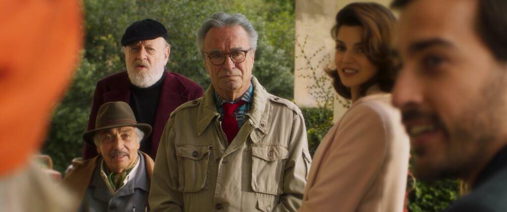 (左起)廢柴老公、陰毒編劇、狠辣導演三位老友記合力對付無良地產商