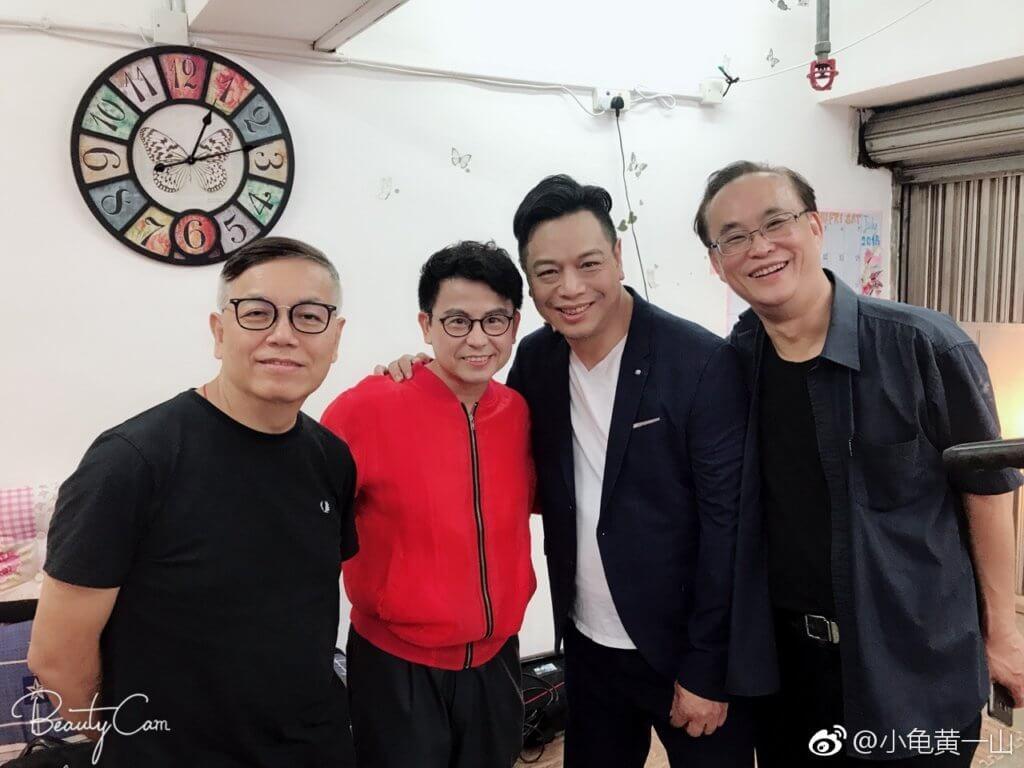 一八年李健仁與田啟文、黃一山等為電影《冒牌搭檔》宣傳。