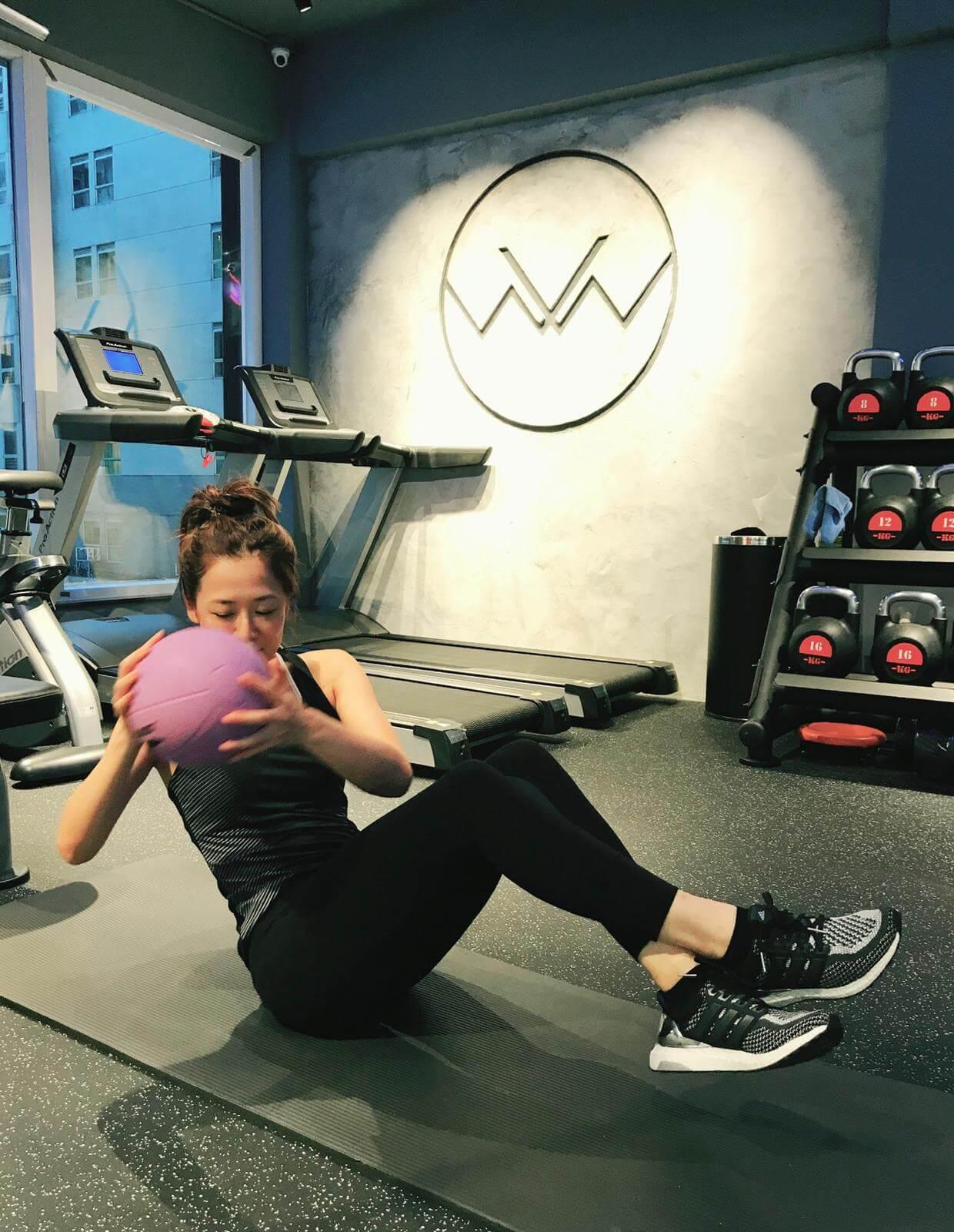 患病期間為了去水腫,日日堅持做運動。