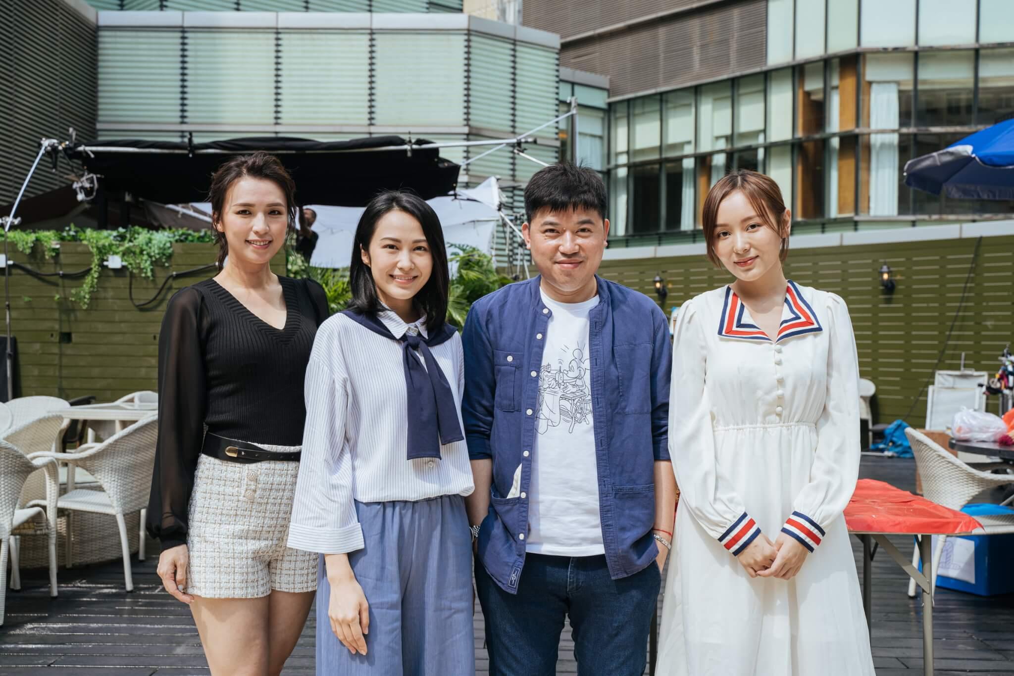 湯怡、何佩瑜、孫慧雪出席葉念琛執導的電影《盲女驚魂》開鏡拜神。