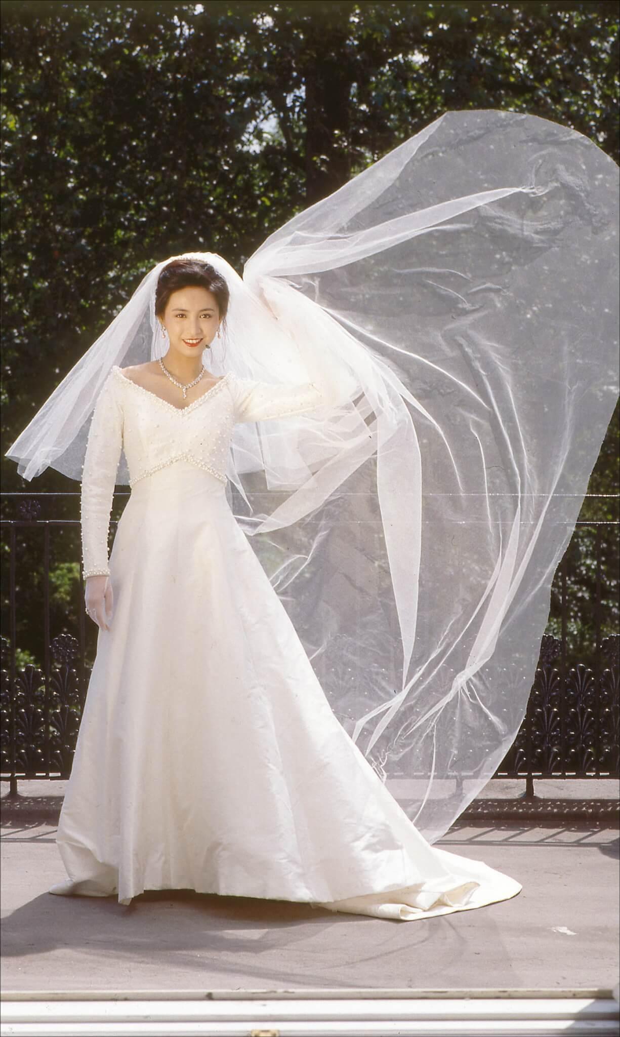 吳婉芳與胡家驊於1993年6月結婚,其婚紗出自92年全英最佳設計師Catherine Walker手筆,婚紗照在胡家的倫敦別墅拍攝。