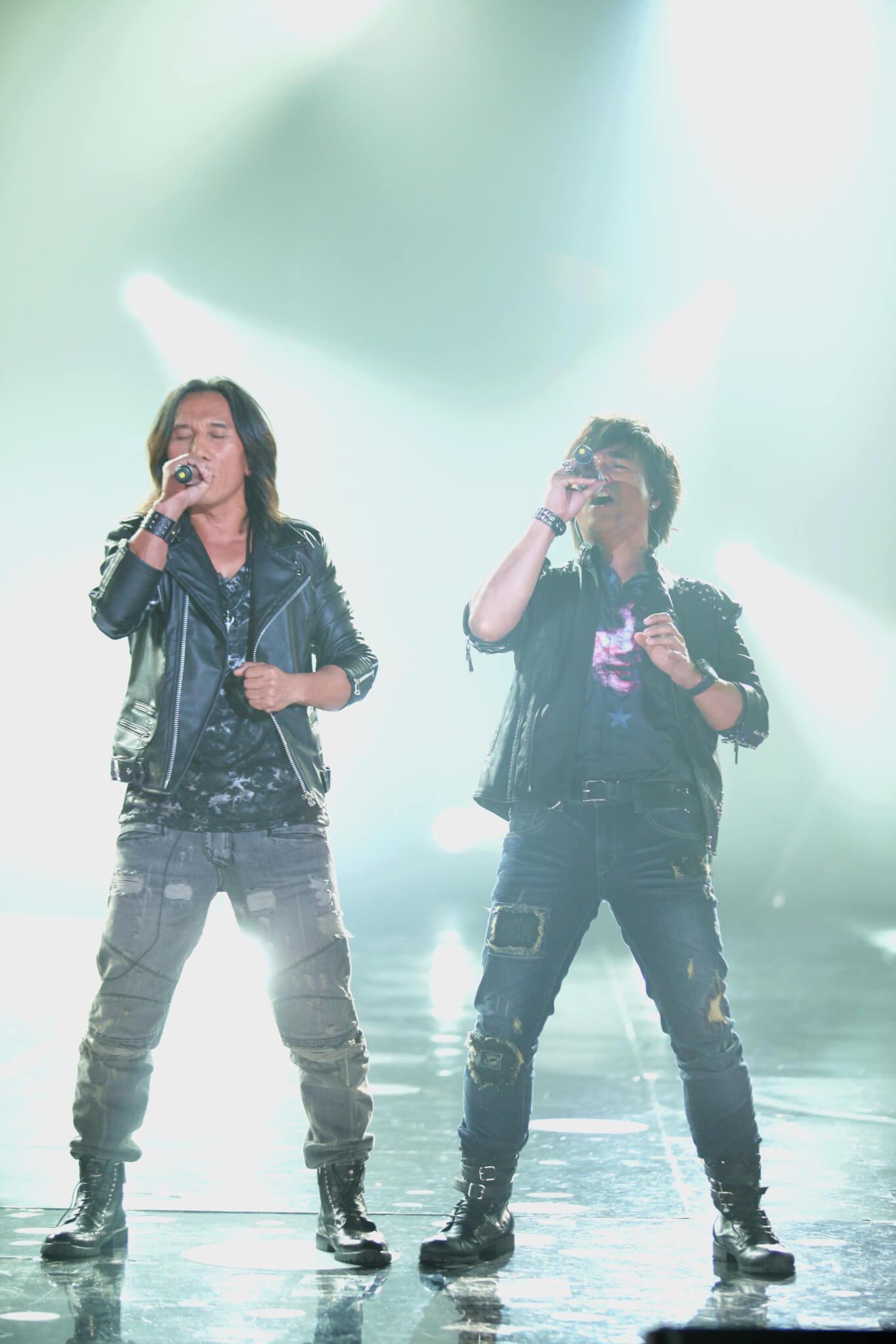 閻奕格於個唱請來高爾宣(上圖)及「動力火車」(下圖)擔任表演嘉賓。