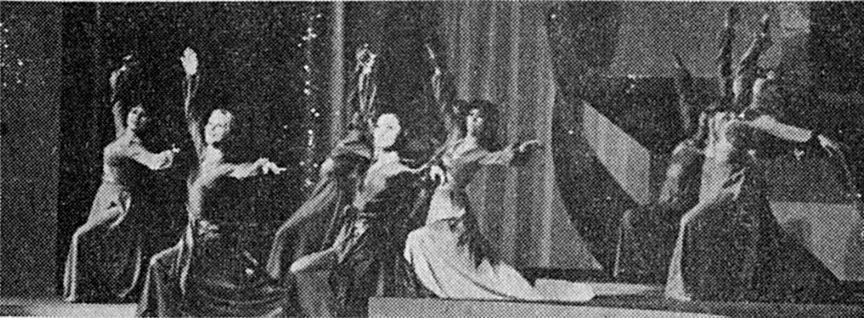 1973年蕭芳芳、梅施麗及無綫舞蹈組