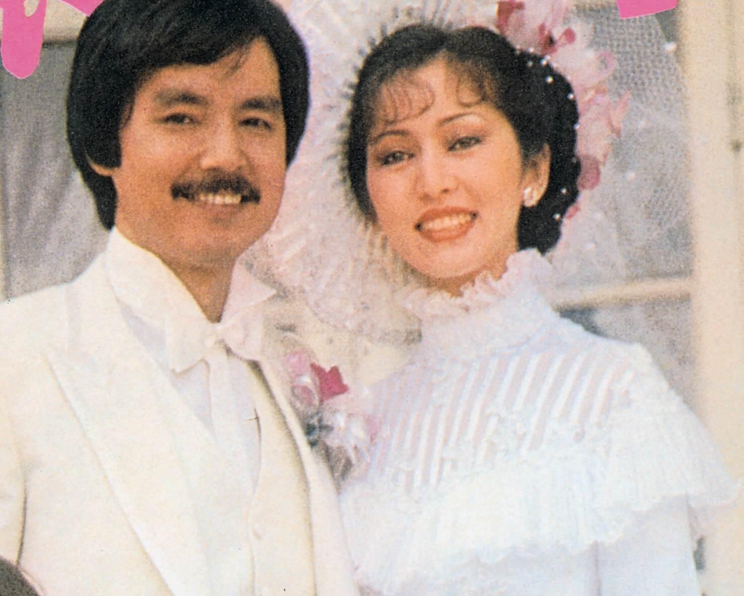 拍拖四年零八個月的張瑪莉和李忠琛於1980年2月攜手走進教堂,她穿上親自設計的婚紗,更加顧盼自豪。