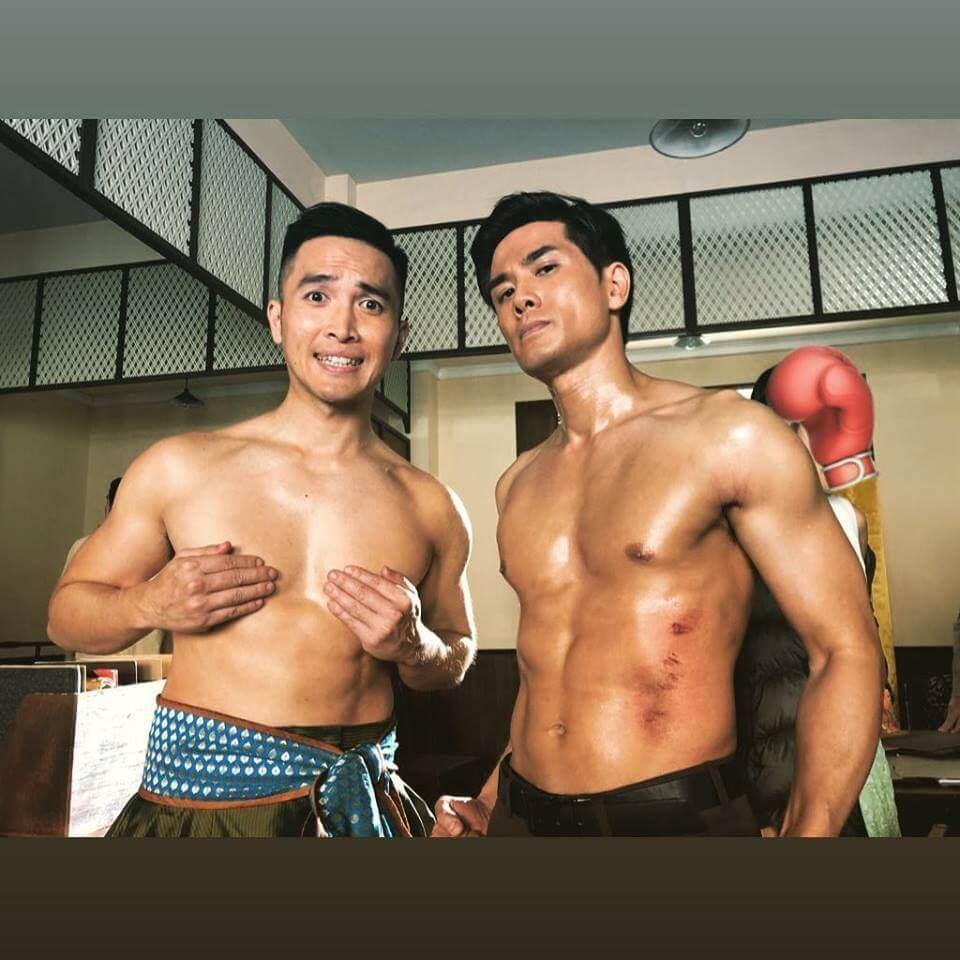 陳國峰早前與伍允龍拍新劇《唐人街》,他說有血有汗又有淚水。