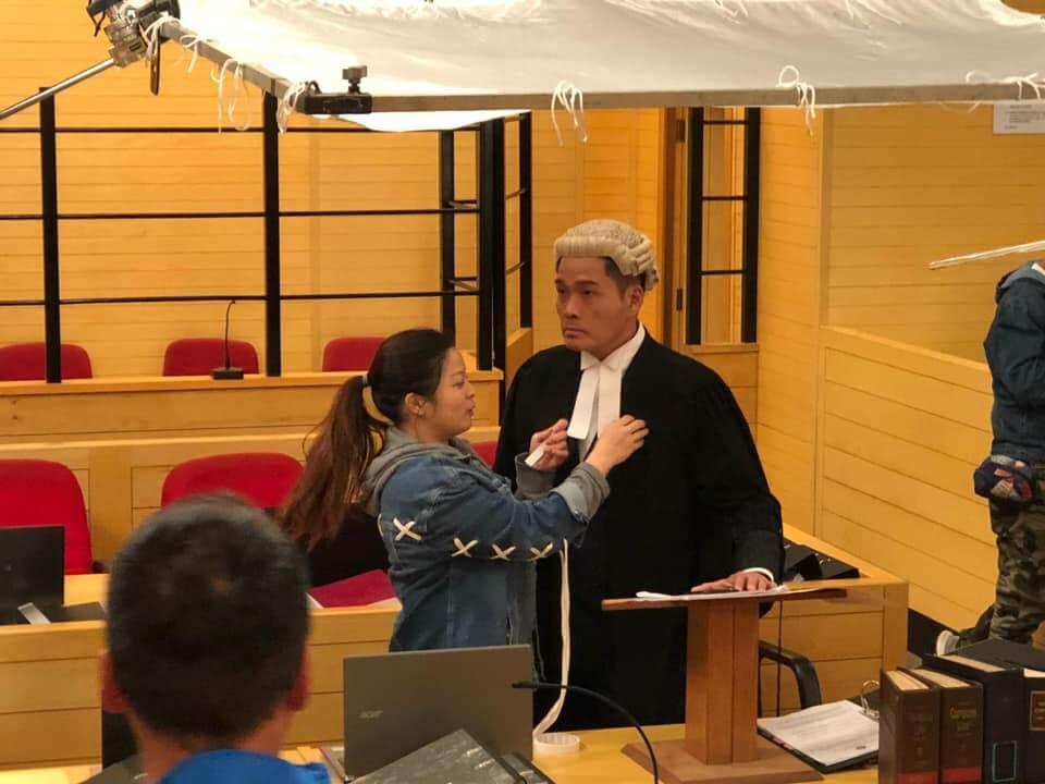 鄭啟泰在《逆天奇案》飾演律師,他難忘在劇中要背一堆專業名字對白。