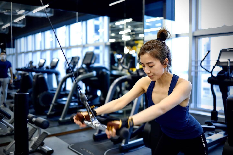 為了保持最佳狀態,不用開工就會做gym。
