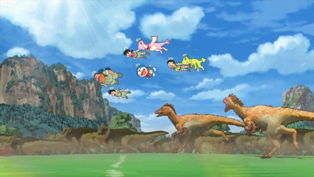 《電影多啦A夢:大雄之新恐龍》看到大雄、多啦A夢、靜香、胖虎、小夫之間真摯友誼能迸發出不可思議的力量。