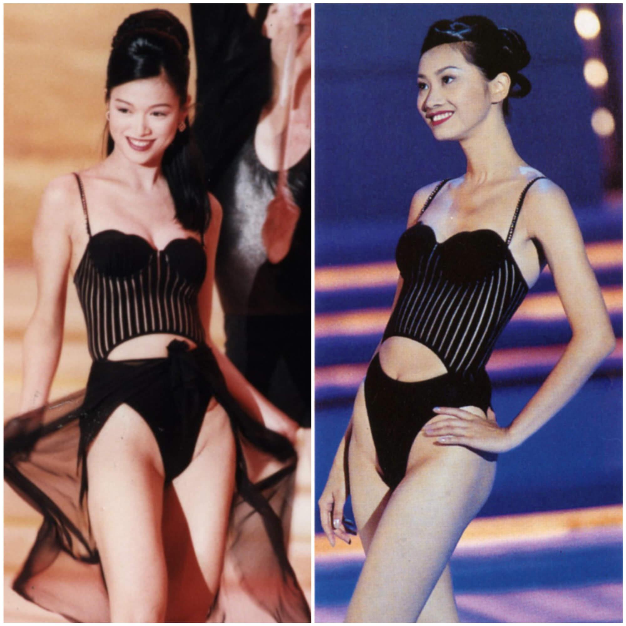 1996年李珊珊(左)、1999年何婷恩