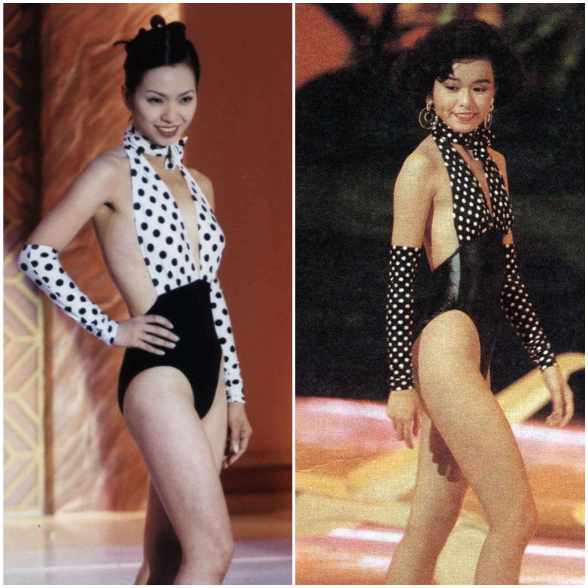 1999年黃犧蔚(左)、1989年陳慧儀
