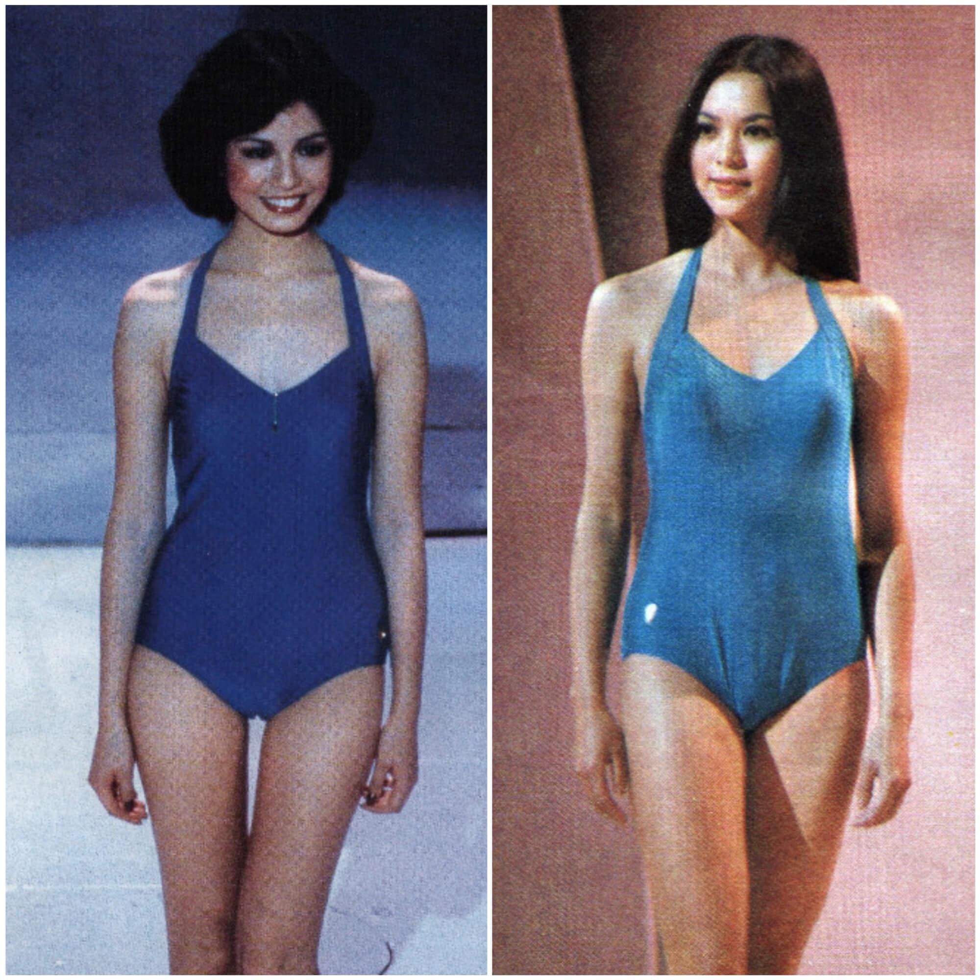 (左起)1979年鍾楚紅、1979年鄭文雅