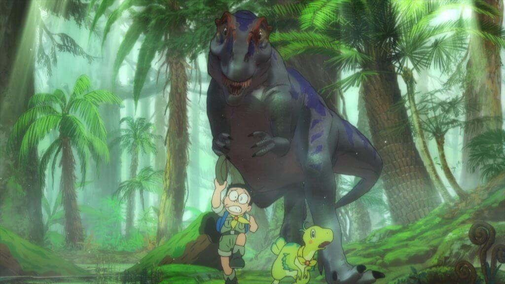 大雄和一眾同伴把一對「新恐龍」帶回六千六百萬年前的白堊紀