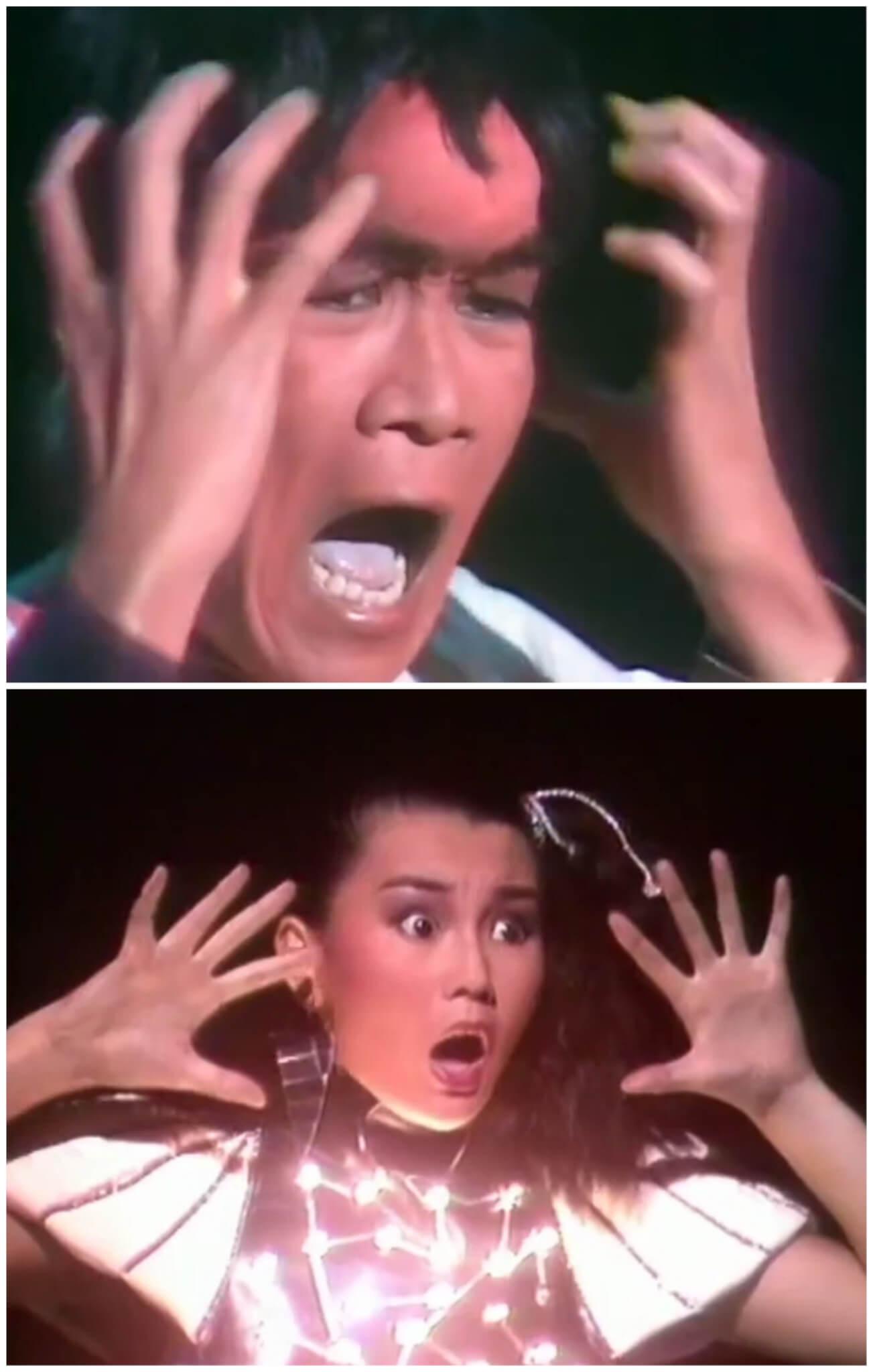 Danny樣貌突變的一幕,Maggie要表現驚慌,觀眾看到官仔骨骨的他變成如斯模樣,也同樣嚇了一大跳。