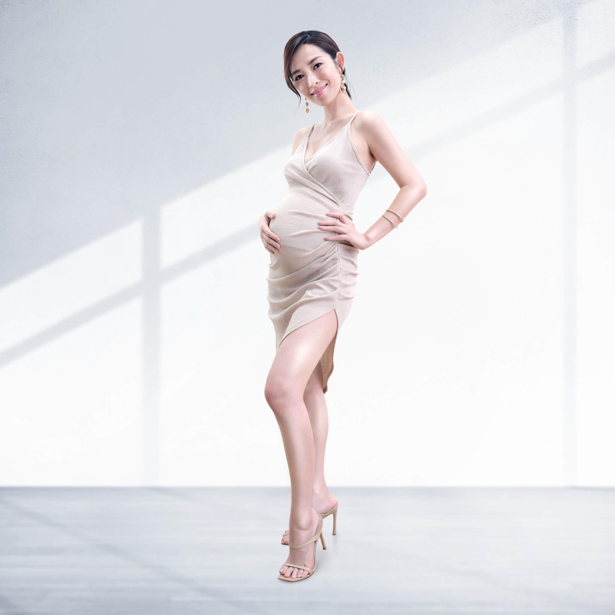 自三月宣布懷了第二胎之後,她已接了三個廣告,大讚BB相當旺財。