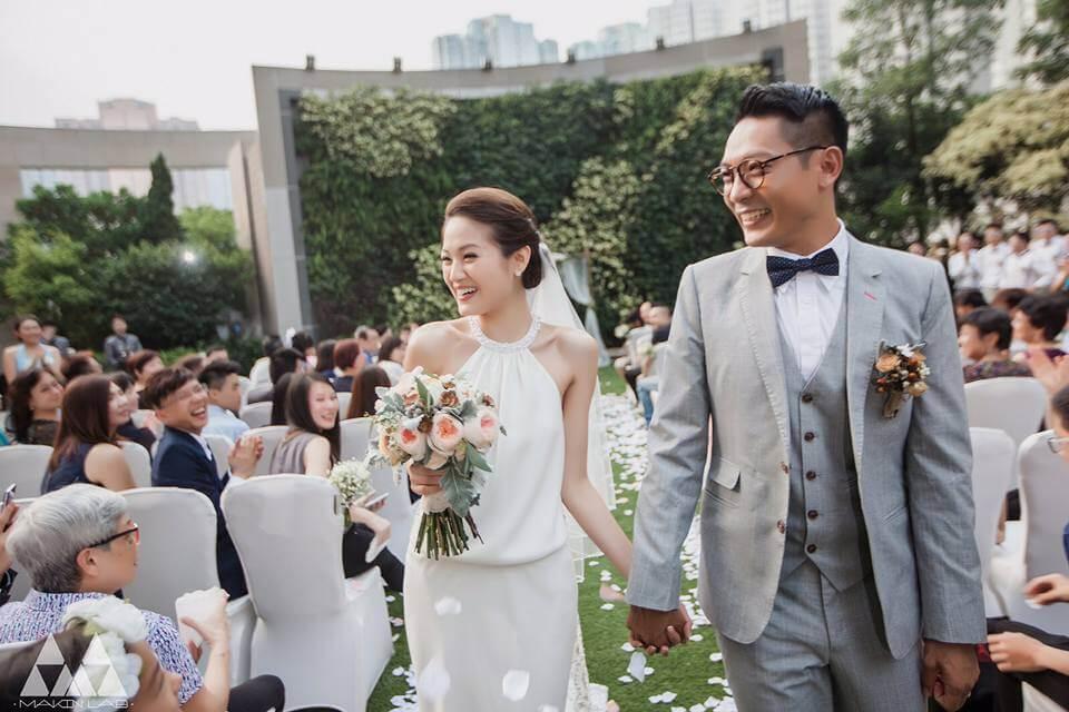 一五年,陸駿光迎娶做文職工作的女友Sherraina。