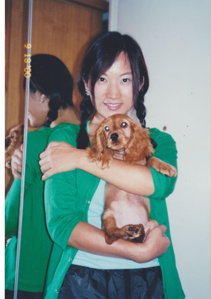 𡃁妹三個月時發現有狗瘟,很艱辛才痊癒,最終十七歲才離開。