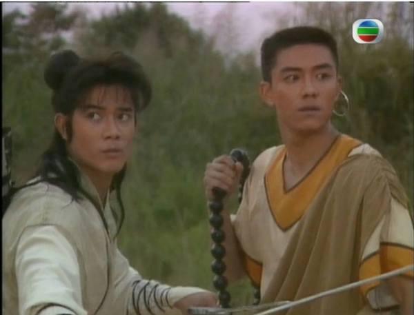 八三年與郭富城拍攝《蜀山奇俠》,二人都很清澀。