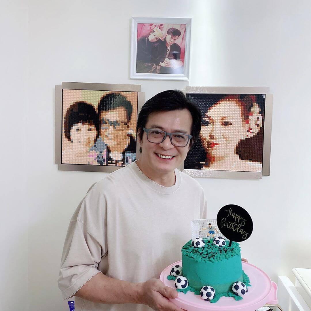 黃日華的生日正日,女兒黃芷晴已送上蛋糕慶生。