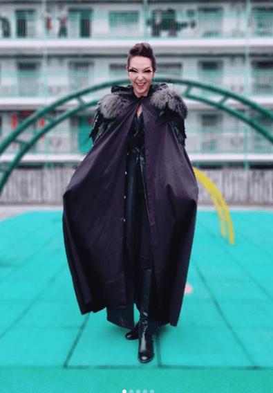 劇集《金宵大廈》的「鴉烏婆」造型,相當嚇人。