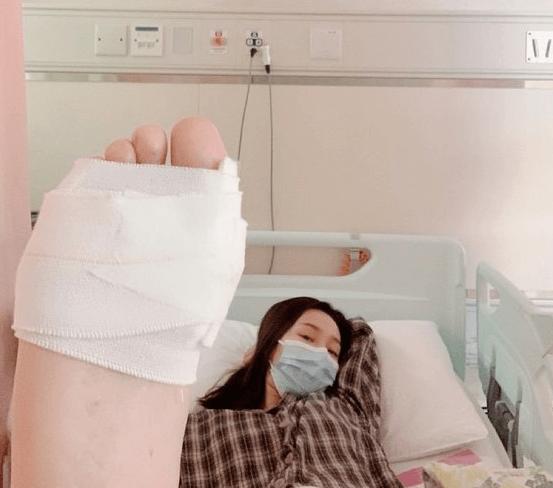 吳嘉儀早前發生家居意外,入院縫了六針。