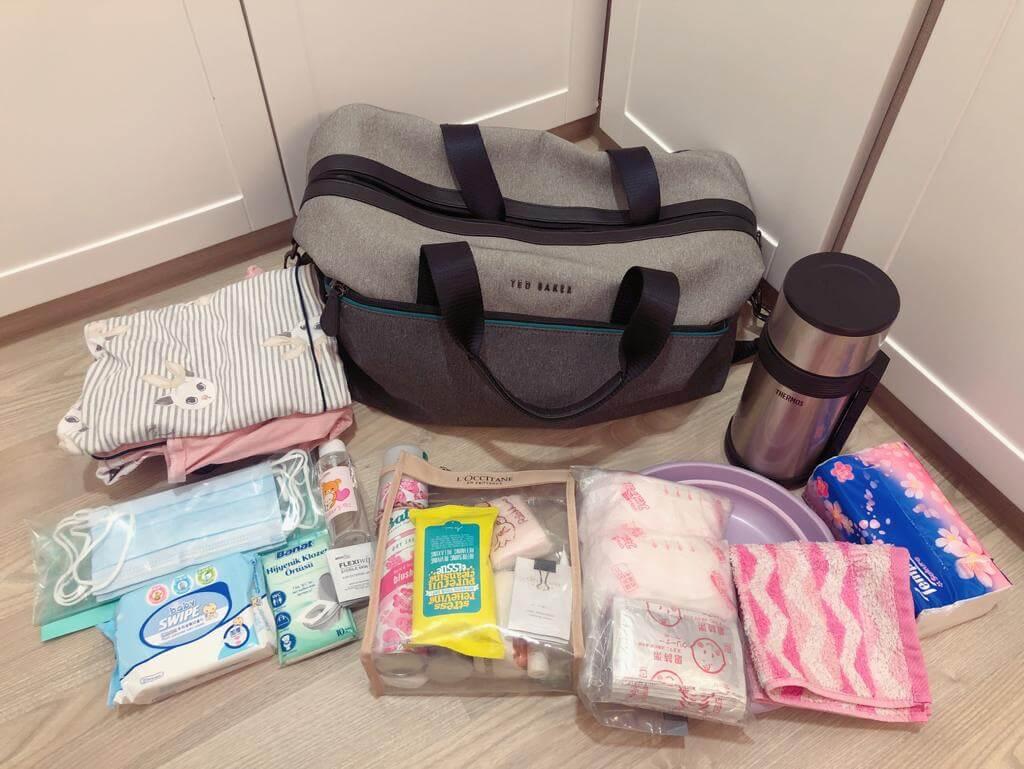 李麗珊已停工放產假,她連走佬袋亦已預備好,已有計劃是剖腹生產。
