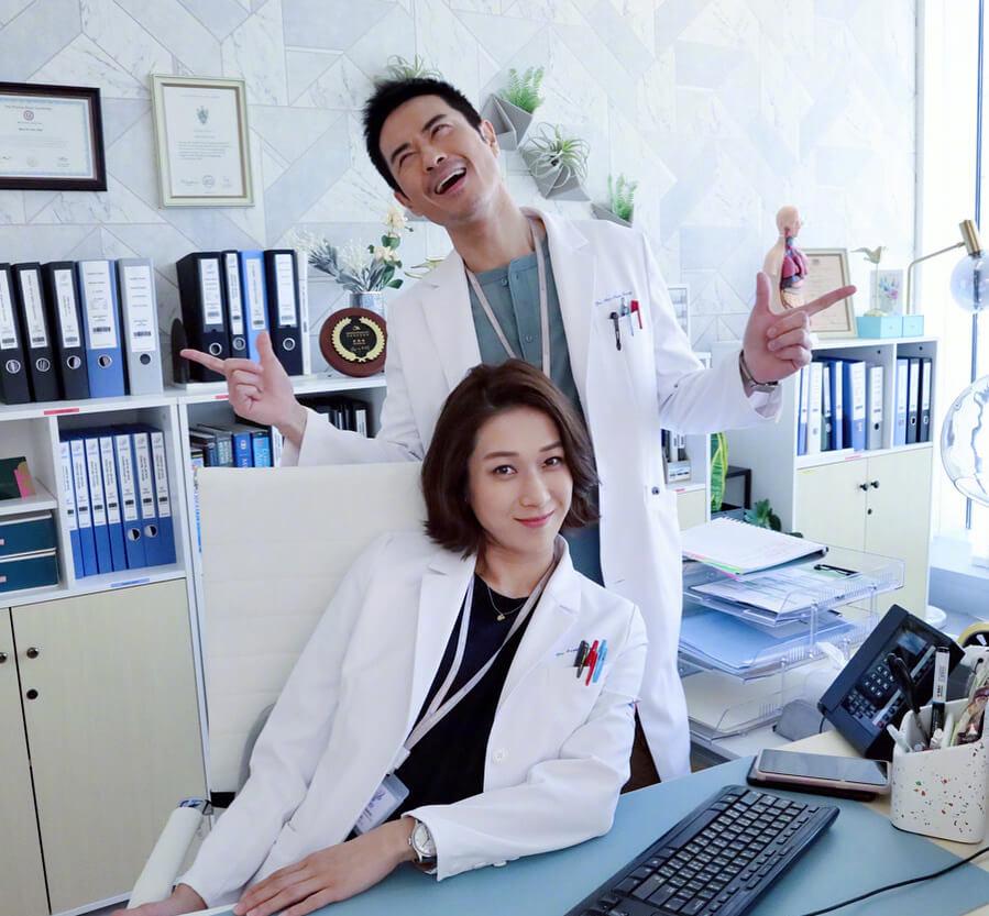 鍾嘉欣與鄭嘉穎正拍攝無綫新劇《兒科醫生》