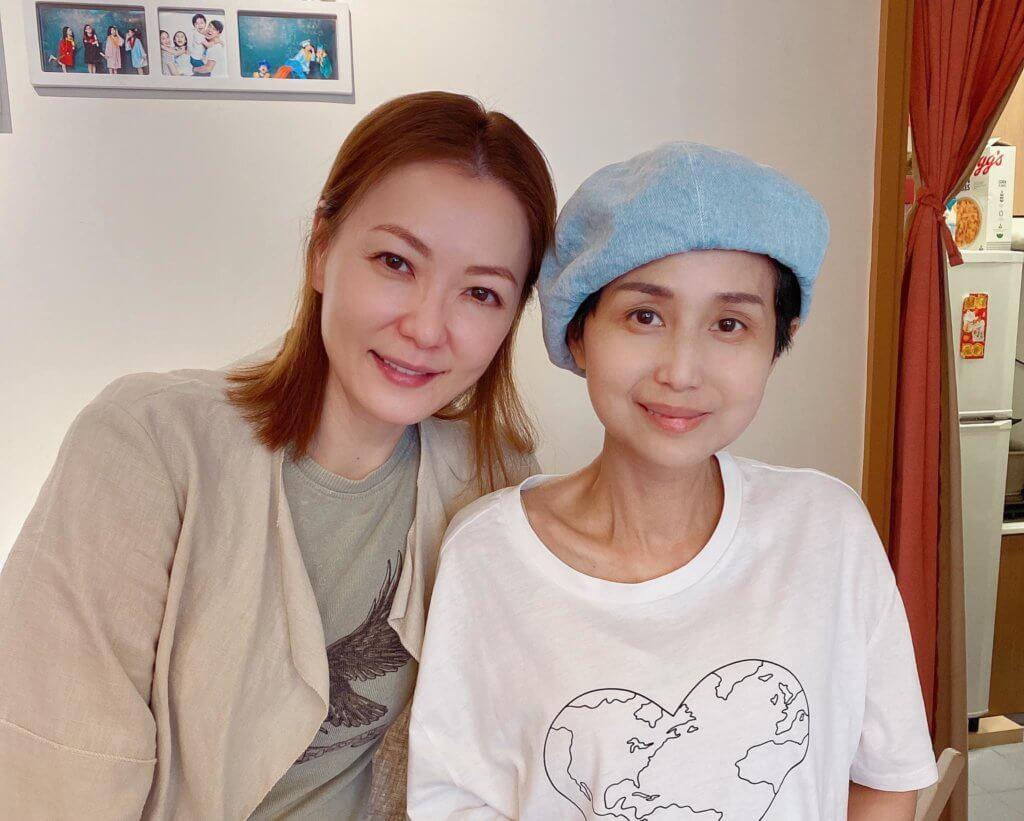 林子博太太接受治療飽受煎熬,早前田蕊妮上門探望,為她打氣。