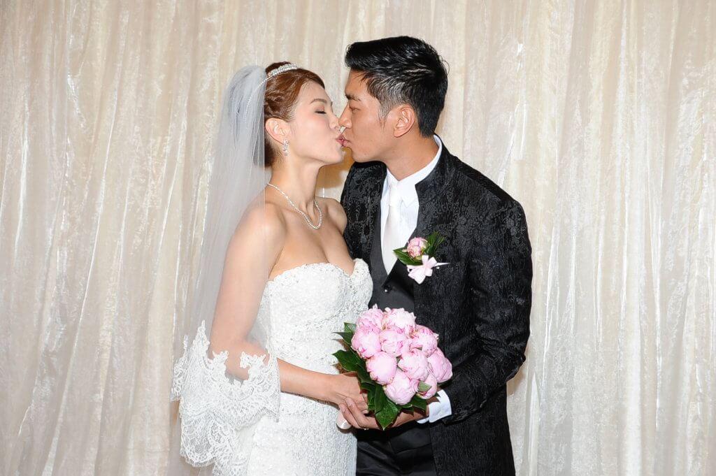 一四年黎諾懿和曾參選港姐的李潔瑩結婚,他說要向《愛‧回家》請假行禮。