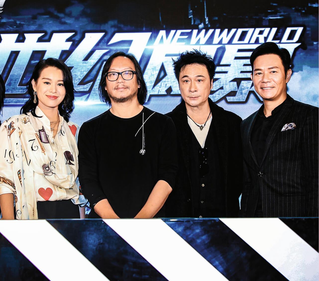 張兆輝與胡杏兒、吳鎮宇於今年初已在深圳出席彭發導演的新戲《世紀風暴》的啟動儀式。