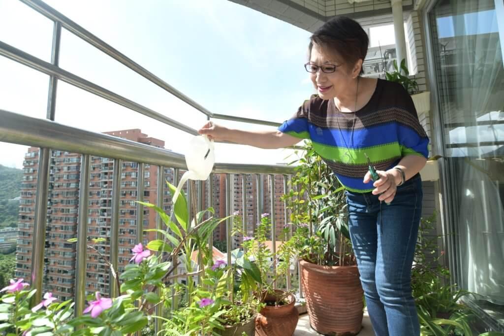 露台的植物和盆栽,由淑梅姐姐親手打理,枝葉茂盛盡顯女主人心思。