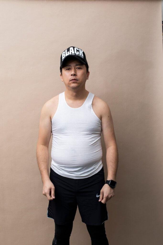林子博表示過去沒有注意飲食健康,曾經長胖至一發不可收拾。