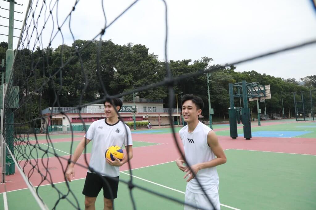 訪問當日,Zeno相約了甲一力臻排球員Chris拍攝。