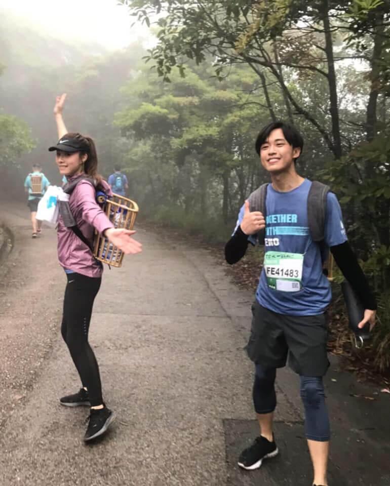 熱愛跑步的顧定軒,曾相約鄧麗欣參加慈善跑。