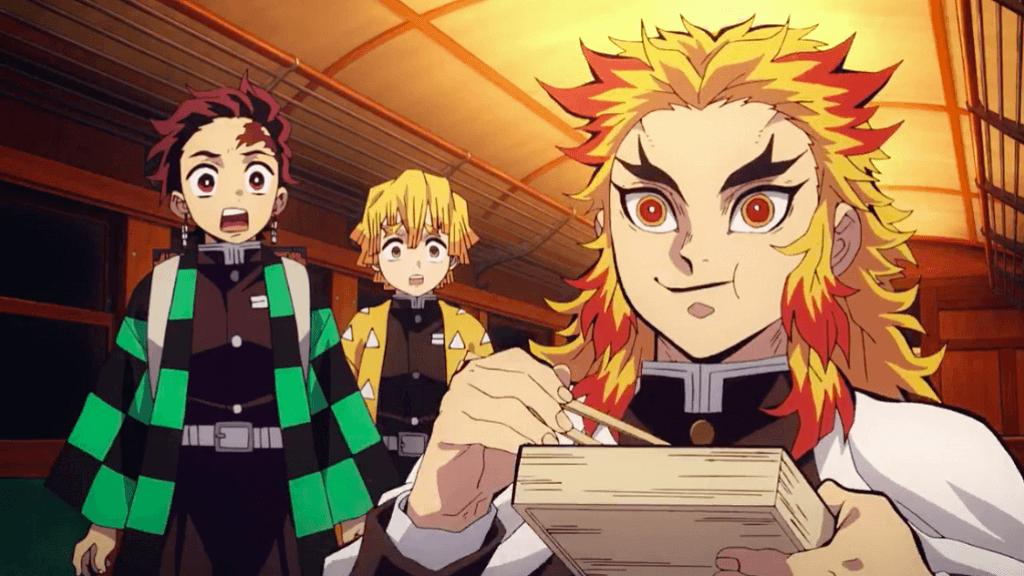 重要角色杏壽郎表現出豪邁吃貨搞笑一面